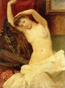 """Probuđena (Despertando)"", óleo sobre lienzo, 63 x 48 cm., 1908"