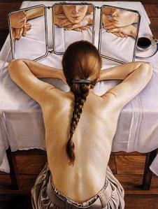 """Ilustración: """"Reflexión""""  de Francine Van Hove"""