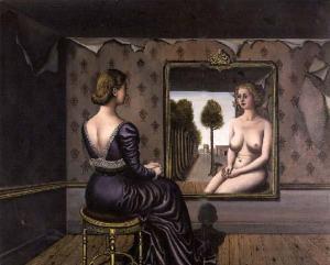 Paul Delvaux, Le Miroir, 1036